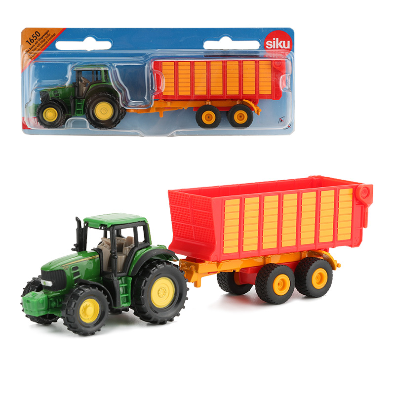 Siku Alloy Tractor Truck Toy Rubbish Trucks Transport Vehicle Construction Car Educational Cars Toys For Children Collection