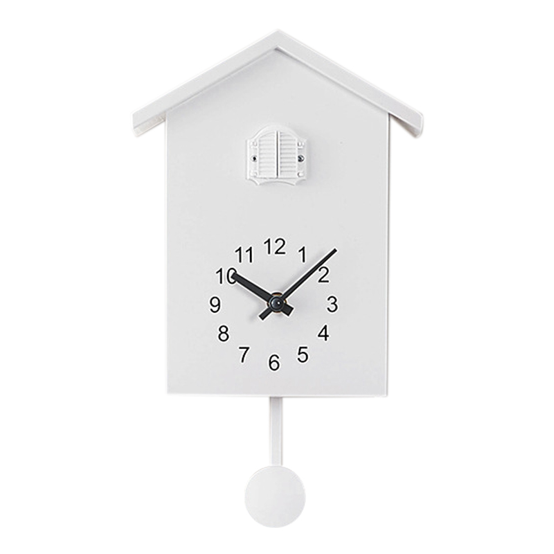 Cuckoo Clock Wall Clock- Movement Chalet-Style , Minimalist Modern Design