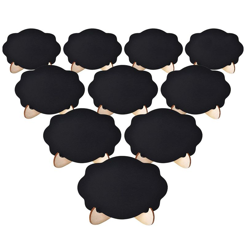 20 Pack Mini Chalkboards With Support Easels Stand,Place Cards Small Rectangle Little Wood Blackboard For Weddings Birthday Part