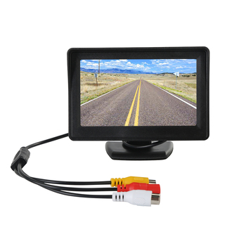 4.3inch TFT LCD Monitor +170degree Wide View Angle Car Reversing Camera IP68 Water-Proof Day/Night Reversing Camera Kit image
