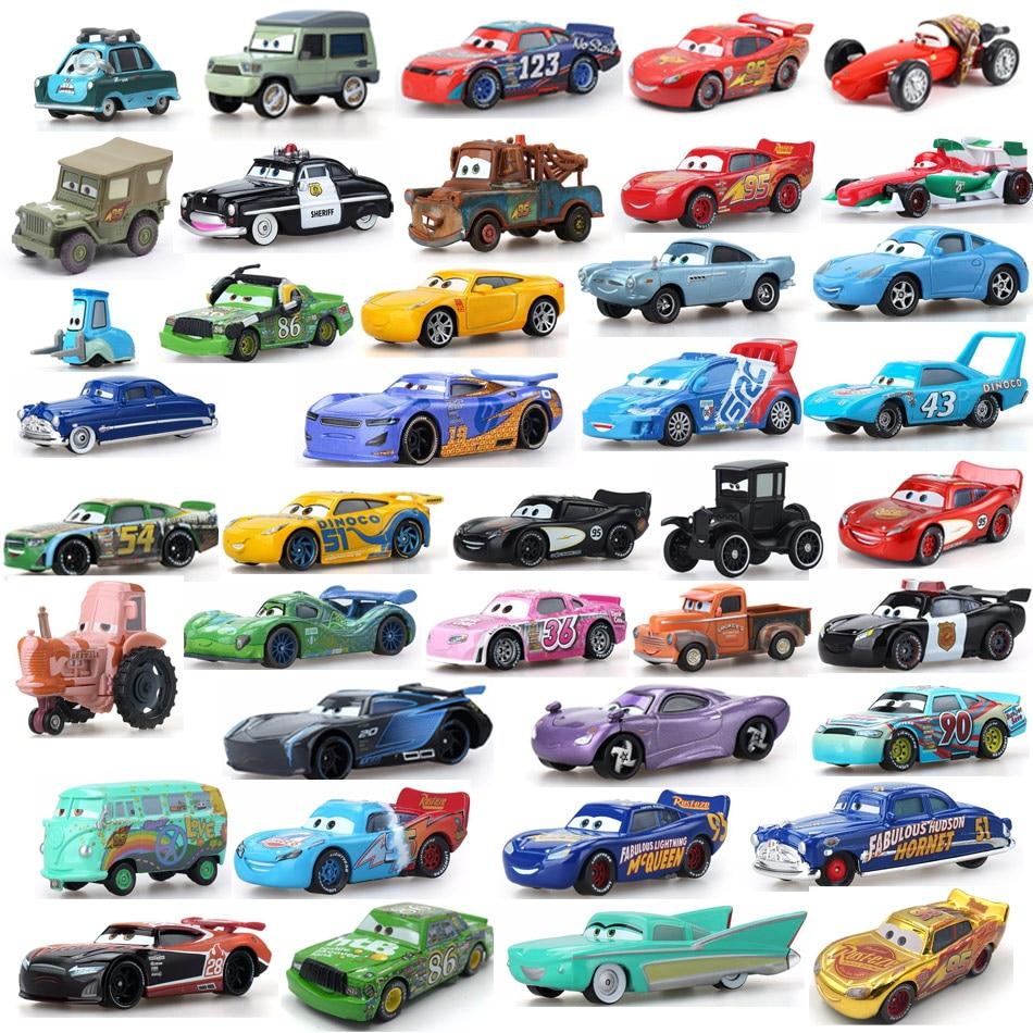 Disney Pixar Cars 2 3 Lightning 40 Style Mcqueen Mater Jackson Storm Ramirez 1:55 Diecast Vehicle Metal Alloy Boy Kid Toys Gift