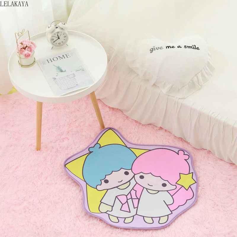 My Melody Little Twin Sterne Cinnamoroll Pudding Hund Frosch Cartoon Shaped Weichen Teppich Schlafzimmer Fußmatten Fußmatte Kinder Spielen Matte