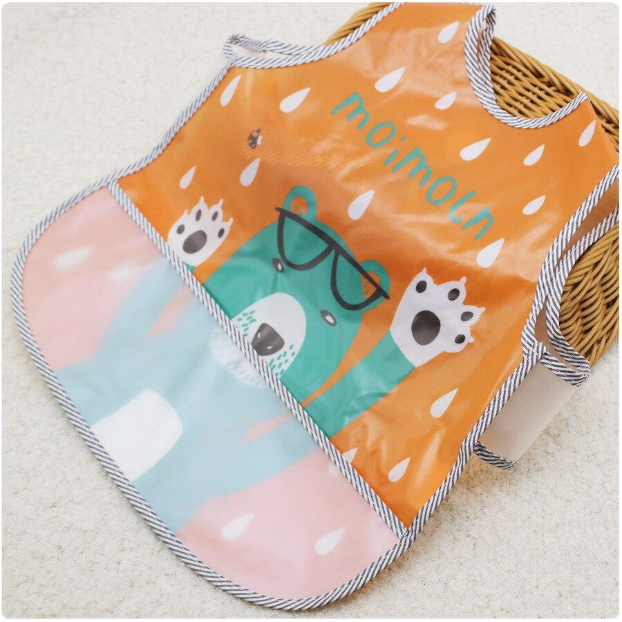 Imebaby Children Thickened EVA Apron Bib Square Saliva Towel Baby Waterproof Bib With Rice Pocket