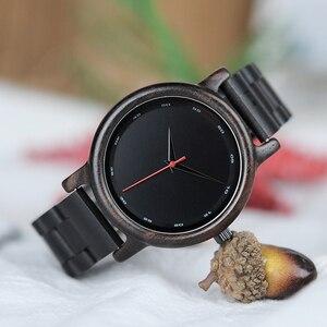 Image 4 - Bobo Vogel Ebbenhout Horloge Mannen Waterdicht Horloge Japanse Beweging Klok Eenvoudige Houten Band Polshorloge Relogio Masculino B P10