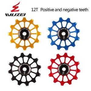 Image 3 - WUZEI polea de cerámica para bicicleta de carretera rodamiento de rueda de cerámica Jockey, aleación trasera de aluminio 7005, desviador 11T 12T 13T, 2 uds.