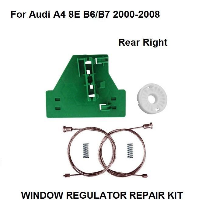 Car Window Kit For Audi A4 8E B6/B7 Window Regulator Repair Kit / Plastic Clip 2000-2008 8E0839462C Rear Right New