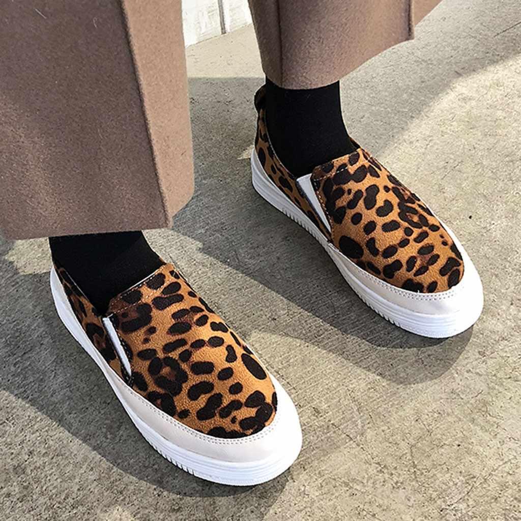Vrouwen platte schoenen leopard snake print vrouwelijke loafers zachte bodem een pedaal luie schoenen vrouwen slip op flats non slip schoenen # G9
