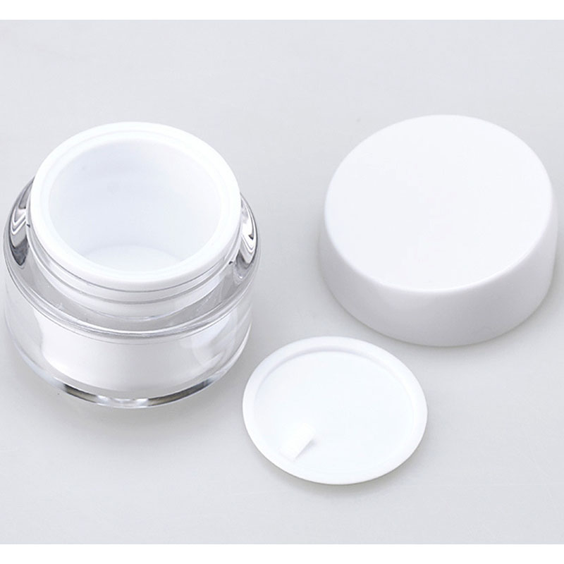 New 1Pc 30/50g Cosmetic Jar Empty Acrylic Cream Cans Vacuum Bottle Flat Cover Tilt Cover Sample Vials Airless Cosmetic Container