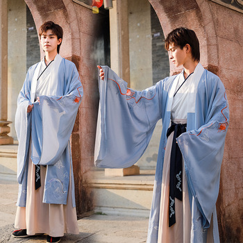 Hanfu Men Tang Dynasty Ancient Chinese Costume Traditional Chinese Clothing For Male Han Dynasty Long Robes Stage Wear DNV12441