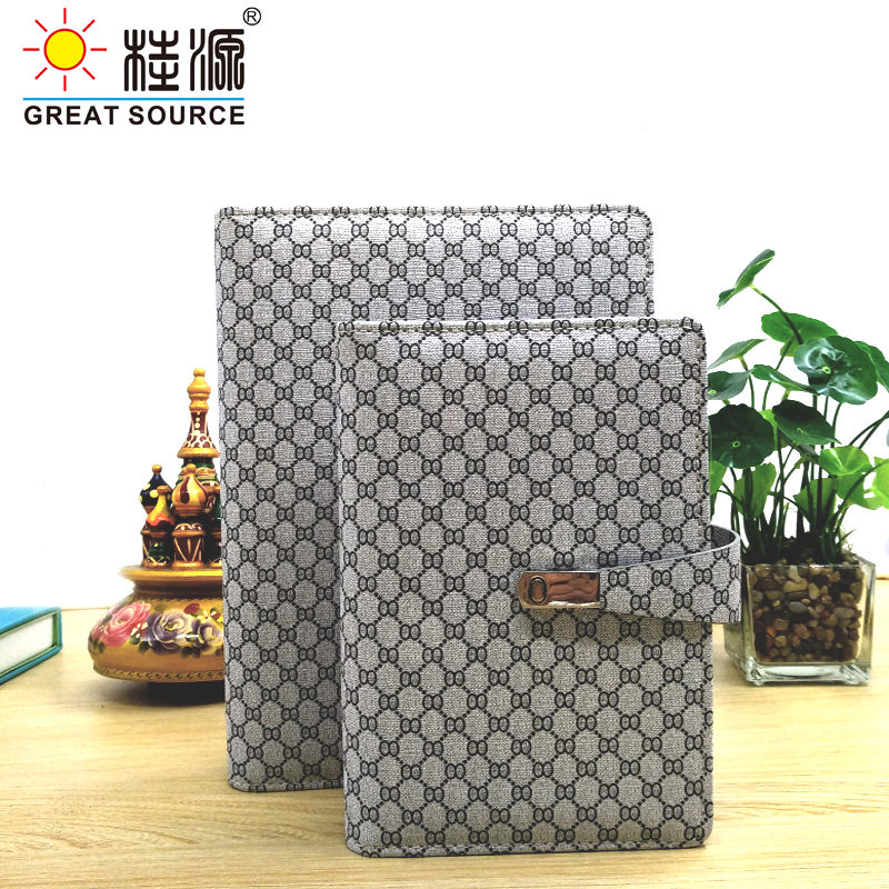 Padfolio Conference Fefillable Folder Clear Pen Bag Color Stickers Fashion Design 6 Rings Binder For Notebook 2021 Calendar(China)
