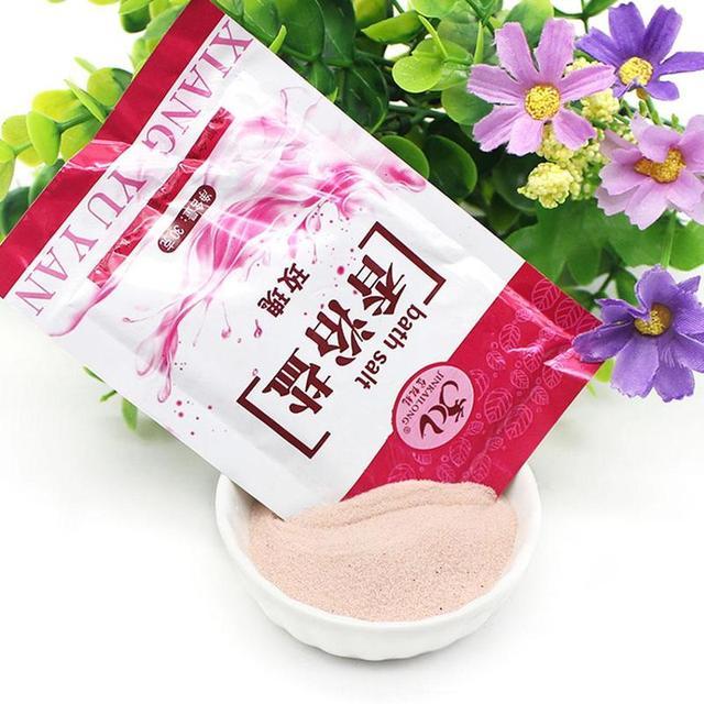 1 Bag Bath Sea Salts Exfoliator Rose Powder Shower Body Foot Massager Skin Care Spa Exfoliation Bath Salt 4