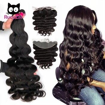Пучки волос RucyCat, пучки волос с фронтальной волной, 13X4