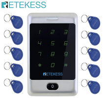 Retekess T-AC01 Rfid Deur Toegangscontrole Systeem Touch Keypad Access Control 12V 125Khz Metal Case Shell Backlight Waterdicht