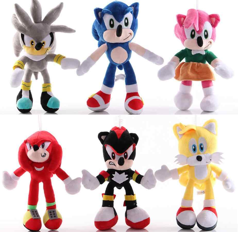 Carino 1PC Super Sonic The Hedgehog Giocattoli di Peluche Morbidi 25m Shadow the Hedgehog Peluche Peluche Per Bambini Adulti di Sonic regali di natale