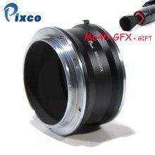 Adaptador de Lente Pixco M645 GFX Terno para Mamiya 645 Lens para terno para Fujifilm G Montar Câmera Digital Mirrorless GFX tais como GFX 50S