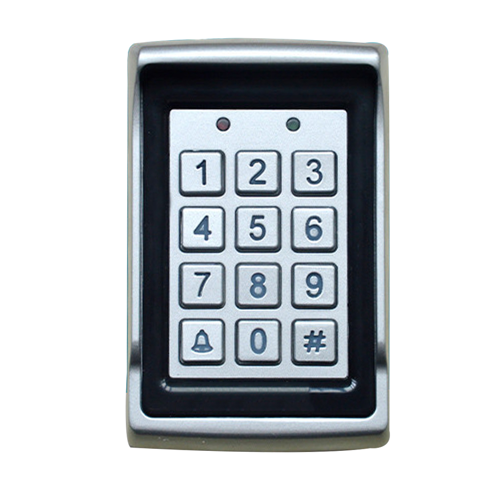 LED Backlight Entry Waterproof Home Aluminum Alloy Access Control Safety Protection Dustproof Keypad Door Card Password Digital