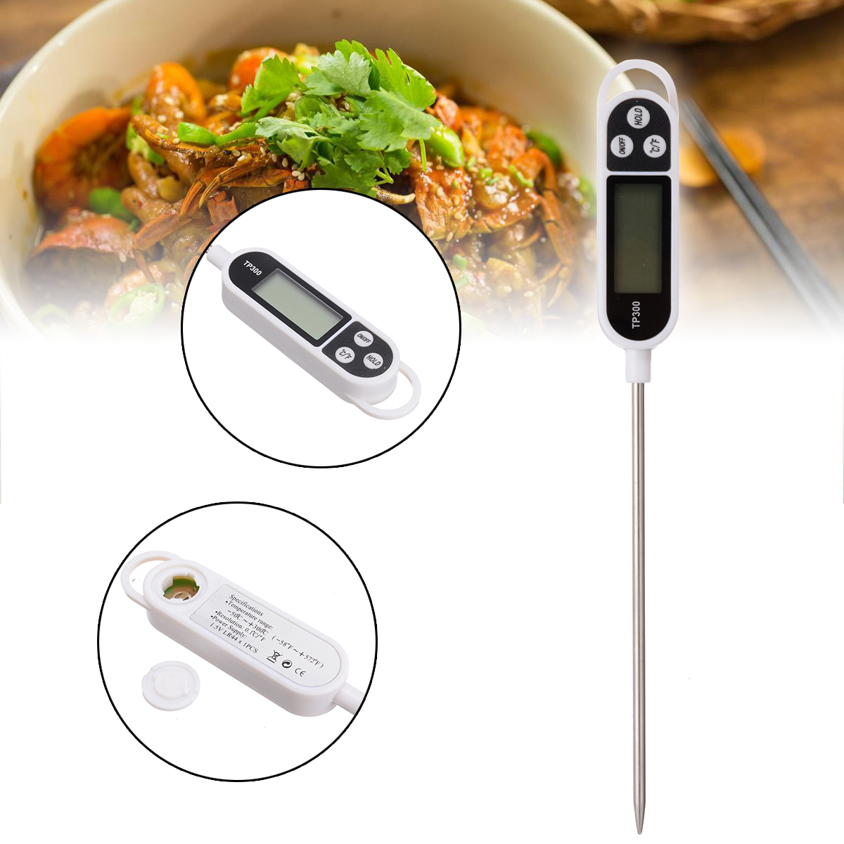 Electronic Digital Kitchen Thermometer For BBQ Cooking Food Probe Meat Water Milk Digital Thermometer Kitchen Tools