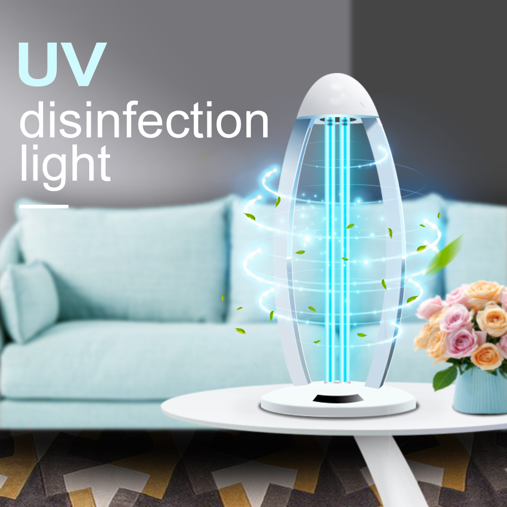 38w Ozone UV Light Sterilizer Tube Quartz Lamp Germicidal Ultraviolet Lamp With Remote Control Desinfect Light UVC For Home