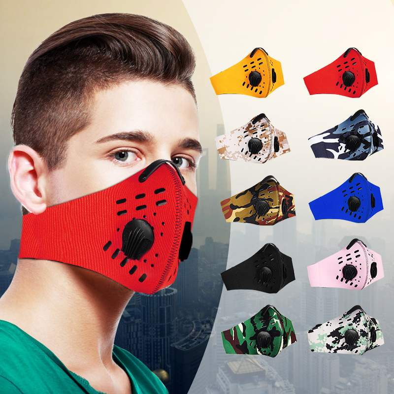Anti Pollution PM2.5 Face Mask Half Anti Dust Pollution Filter Sport Cycling Bicycle Bike Ventilation Holes On Mouth Soft 1PCS