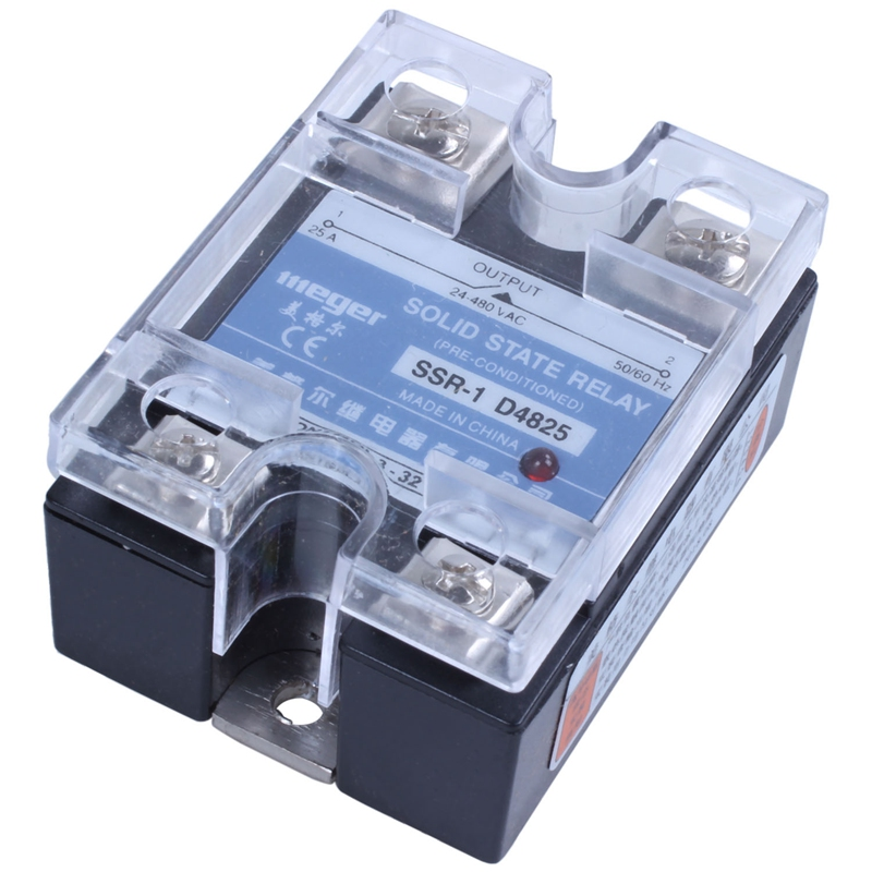 MGR-1 D4825 Single-phase Solid State Relay SSR 25A DC 3-32 V AC 24-480 V