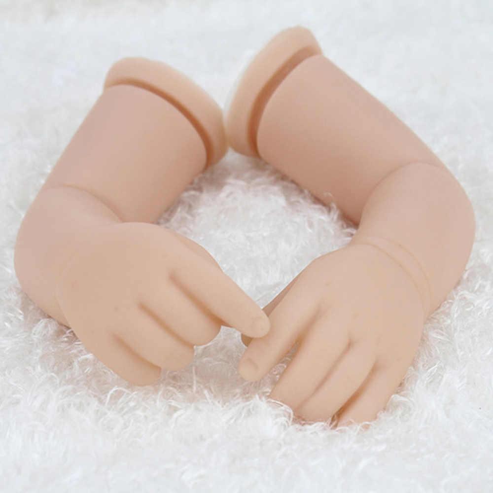 KAYDORA DIY Model 16 inç/40 cm vinil silikon yeniden doğmuş bebek kitleri bebek aksesuarları ile kafa 3/4 bacaklarda boş boyasız bebek kitleri