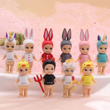 Single Sale Mini Doll Sonny Angel Devil Cupid  Unicorn Rabbit Horse Doll Cute Figurine Toys Model doll kids Collection Gifts