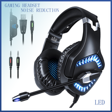 Gaming Headset For PS4 Over Ear Gaming Headphones With Mic Stereo Surround Noise Reduction LED Lights Volume Control onsite volume reduction system