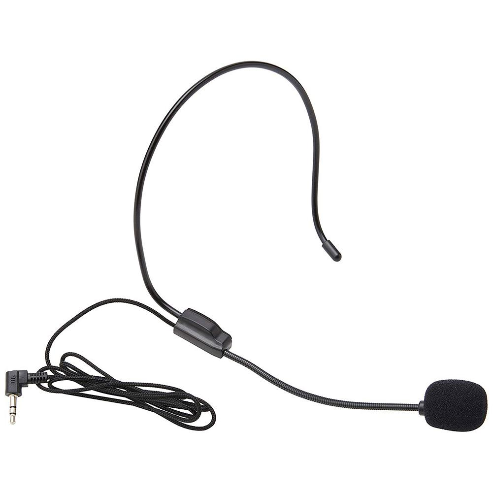 Portable ABS 3.5mm Plug Headwear Microphone Voice Clear Sound Amplifier For IPhone Window S PC IPad Android