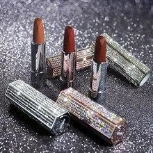 New NOVO Starry Diamond Shinny Lipstick Matte Waterproof Long lasting Mouisture