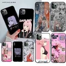 Dois querida na anime franxx caso de telefone para o iphone 12 11 pro max mini xs max 8 7 6s plus x 5S se 2020 xr capa