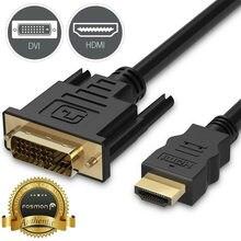 Adaptateur HDMI vers DVI d24 + 1 mâle, 6 pieds, câble pour HDTV LED LCD, connecteurs plaqués or 24k pour une clarté optimale, 20APR13