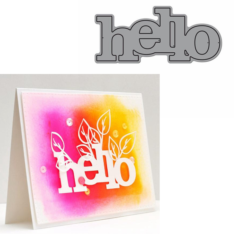 Hello Word Die Cuts For Card Making Hello Word Dies Scrapbooking Metal Cutting Dies New 2019