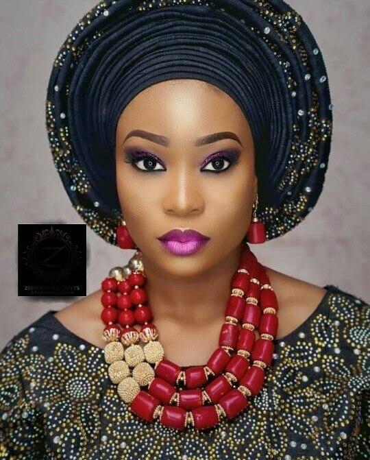 Qualité vin rouge corail perles femmes bijoux ensemble réel naturel corail collier ensemble pour mariage nigérian CG009