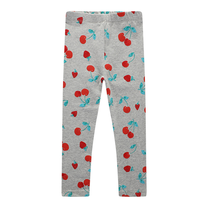 VIDMID 2-7 years girls cartoon striped pants kids baby cotton clothes children floral pants  baby trousers girls trousers W01 6