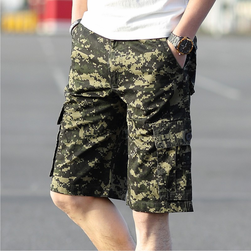 2016 Summer New Style Men'S Wear Fashion Casual Camouflage Shorts Bib Overall Military Large Size Shorts Men's