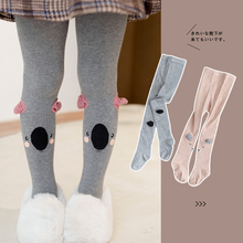 Spring Children Tights Cartoon Kids Girl Pantyhose Cotton Knitted Cotton Cute Kids Stocking Baby Pantyhose Tights Girls
