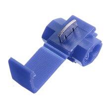 все цены на 100pcs Quick Splice Connectors Lock Wire Terminals Crimp Electrical Electric - Blue онлайн