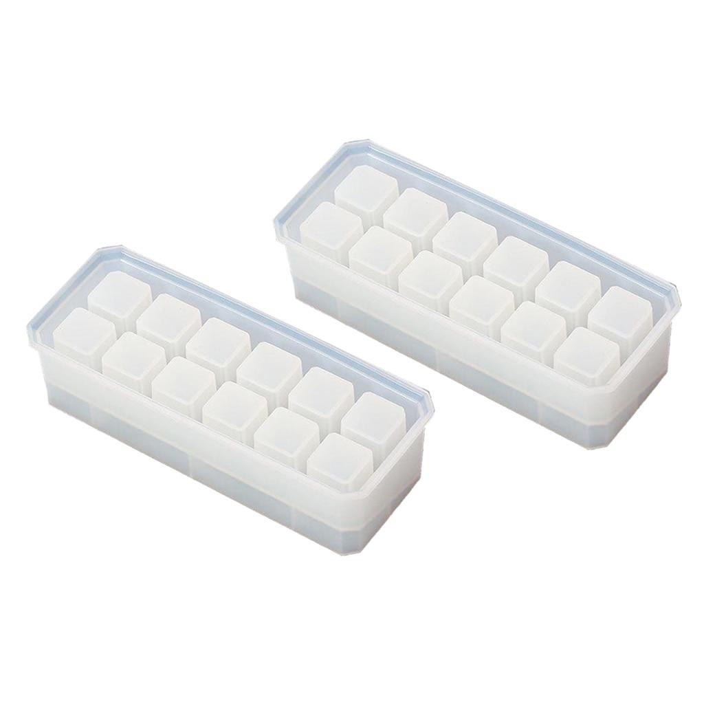 2x формы для эпоксидной смолы силиконовые литые diy Безделушка