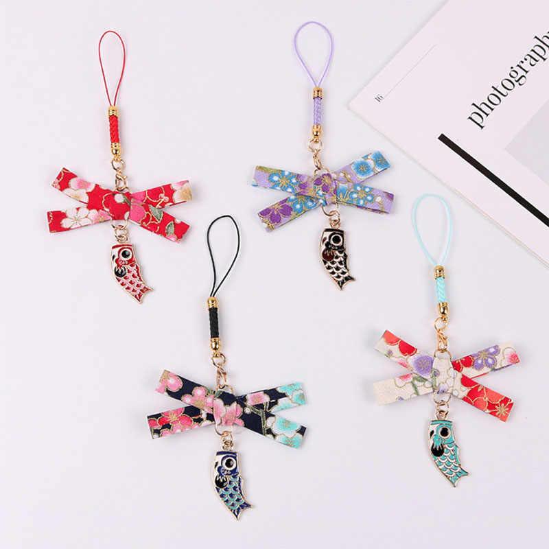 สไตล์ญี่ปุ่น Koi Fish Wish โชคดีพวงกุญแจชุดหูฟัง Airpods กระเป๋าจี้คีย์แหวนผู้หญิงผู้ชาย Key ผู้ถือเครื่องประดับของขวัญ