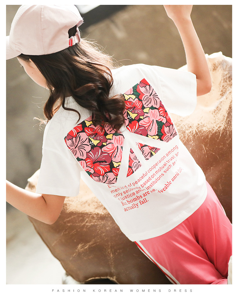 Kds summer clothes Short Sleeve printing T-Shirt Tops+Shorts Suits Outfits Baby Children's Clothes 2PC Set 3 8 10T