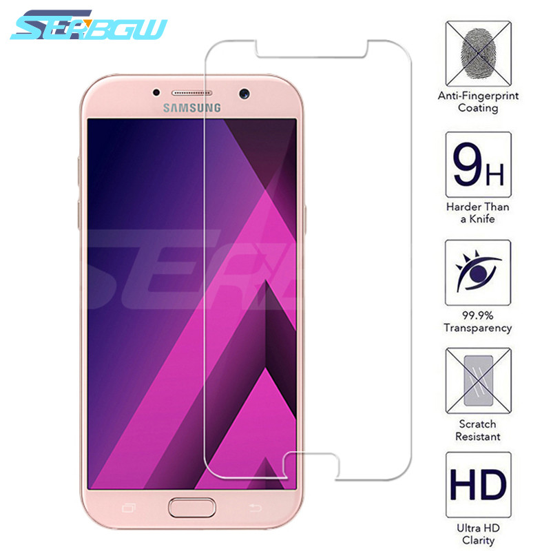 <font><b>9H</b></font> Protective <font><b>Glass</b></font> For <font><b>Samsung</b></font> <font><b>Galaxy</b></font> <font><b>A3</b></font> A5 A7 2015 <font><b>2016</b></font> 2017 A6 A8 Plus A9 2018 Screen Protector <font><b>9H</b></font> 2.5D Tempered <font><b>Glass</b></font> image
