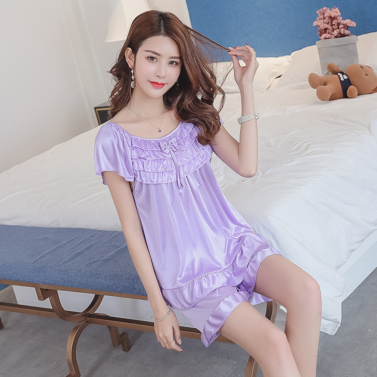 2019 Summer New Products Middle-aged Viscose Pajamas Suit Large Size Sexy Home Wear