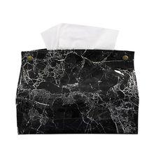Коробка для салфеток в скандинавском стиле с мраморным узором из искусственной кожи, бумажный контейнер для салфеток, бумажное полотенце, чехол для салфеток