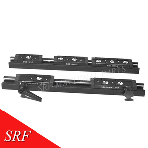 Image 3 - 28mm width Rectangle wheel  Linear Guide Rail 1pcs SGR10N Length=200mm with SGB10N 4UU four wheel slide block for CNC parts