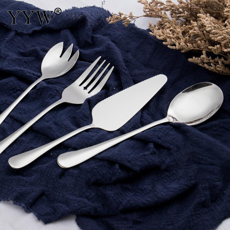 5PCs/Lot Dinnerware Sets Fork Spoon Knife Set Portable Travel Adult Cutlery Camping Picnic Kitchen Tools Tableware