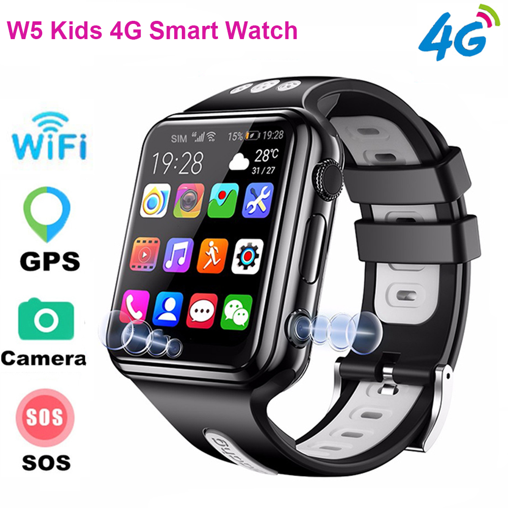 <font><b>W5</b></font> Kids 4G <font><b>Smart</b></font> <font><b>Watch</b></font> 2MP Camera HD Video Voice Call SOS GPS WIFI Big Battery Baby Tacking Smartwatch for Android IOS image