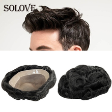 Hair-Replacement-System Toupee Human-Hairpieces Mono Wig Npu-Base Men's for 8x10-Inches