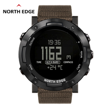 Noord Rand Digitale Horloge Waterdicht Horloge Roestvrij Staal Klok Wereld Tijd Nylon Horloge Band Led Horloges Mannen Reloj Hombre ALTAY2