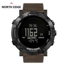 North EDGE ดิจิตอลนาฬิกากันน้ำนาฬิกาสแตนเลสนาฬิกาเวลาโลกนาฬิกาไนล่อนนาฬิกา LED นาฬิกาผู้ชาย reloj hombre ALTAY2