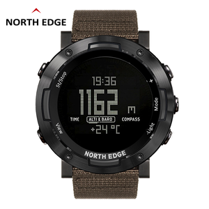 Image 1 - North Edge 디지털 시계 방수 시계 스테인레스 스틸 시계 세계 시간 나일론 시계 밴드 LED 시계 남자 reloj hombre ALTAY2